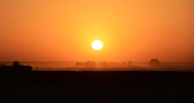 Afghan Sunset in Nahr E Saraj. Photo credit – Sgt Dan Bardsley, RLC