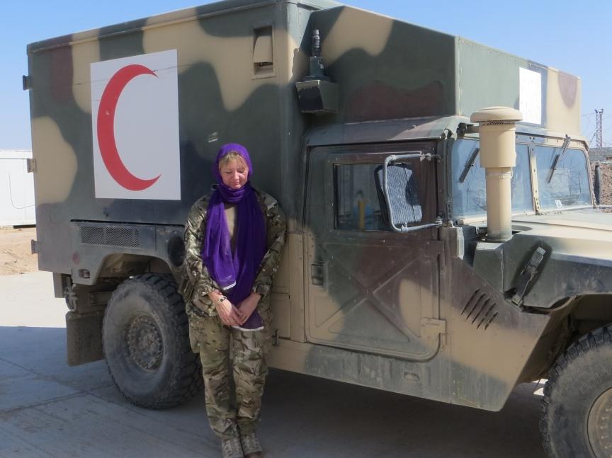 In Shorabak, next to ANA ambulance