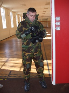 Warming up nicely in my CBRN kit.