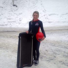Captain Hayley Larcombe has won the Inter-Services Skeleton Championships for 2 consecutive years.